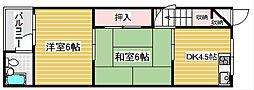 第3Aハイツ[2階]の間取り