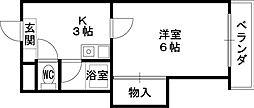 ウィンライフ山本[2階]の間取り