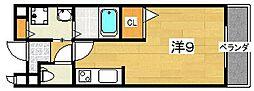 ポポラーレ[1階]の間取り