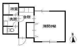シャトーシマダII[102号室]の間取り