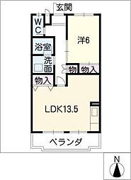 第一三栄マンション[1階]の間取り