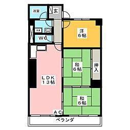 プレミアコートクレア[3階]の間取り