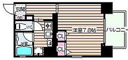 キャピトル天神橋[3階]の間取り