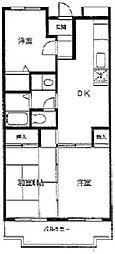 エスポワール東戸塚[4階]の間取り