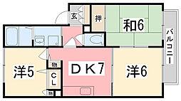 マウントパレスA棟[2階]の間取り