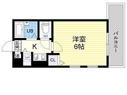 プロシード新大阪CityLife 8階1Kの間取り