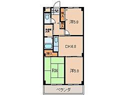 ラフォーレ壱番館[3階]の間取り