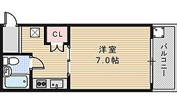 エミネンス阿倍野[102号室]の間取り