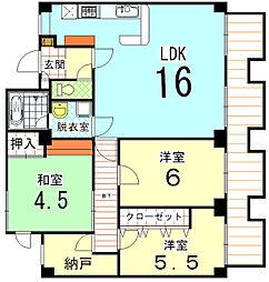 KITANOクレセント[6F号室]の間取り