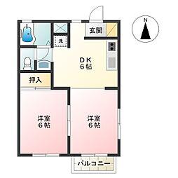 ハイツHIRO-A棟-[1階]の間取り