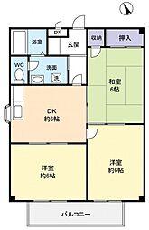 飯嶋レジデンスI[2階]の間取り