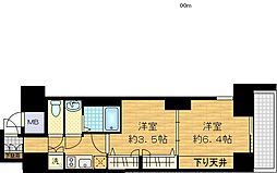 レジュールアッシュ梅田AXIA[4階]の間取り