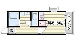 兵庫県加古川市別府町東町の賃貸アパートの間取り
