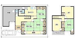 [一戸建] 兵庫県姫路市広畑区則直 の賃貸【/】の間取り