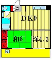 第二仲村ビル[4階]の間取り