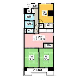 City 堀木[6階]の間取り