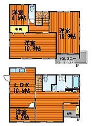 [一戸建] 岡山県倉敷市福島 の賃貸【/】の間取り