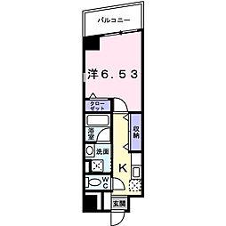 アベニュー美園[5階]の間取り