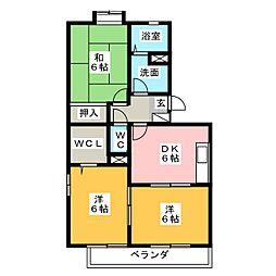 エクセレンス[3階]の間取り