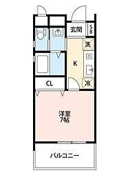 JR東海道・山陽本線 吹田駅 徒歩11分の賃貸アパート 1階1Kの間取り