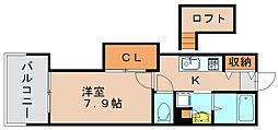 アクタス博多Vタワー[2階]の間取り