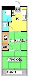 西武高松マンション[3階]の間取り