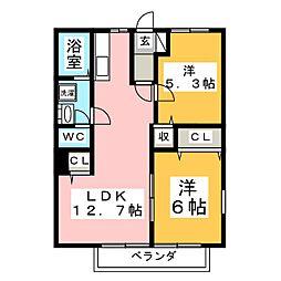 サンサラブレット[2階]の間取り