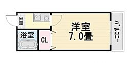 大阪府堺市西区津久野町3丁の賃貸マンションの間取り