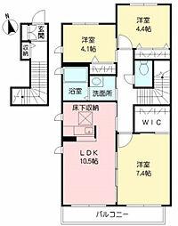 ラ・セゾンI A棟[2階]の間取り