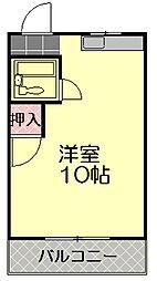 シティハウス西川(平田)[2A号室]の間取り
