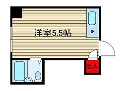 堀江グリーンハイツ[406号室]の間取り