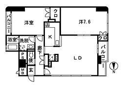 ブレクレール湘南[8階]の間取り