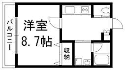 lusia casa[0103号室]の間取り