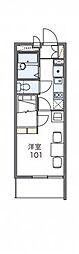 JR東海道本線 尾張一宮駅 徒歩12分の賃貸マンション 2階1Kの間取り