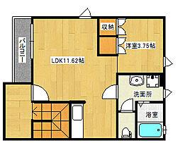 ソレイユナカヤマ[2階]の間取り