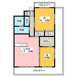 コーディアルコート津[2階]の間取り