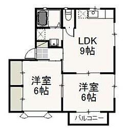 シャトレ・ファミーユA[2階]の間取り