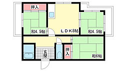 兵庫県神戸市垂水区本多聞2丁目の賃貸マンションの間取り