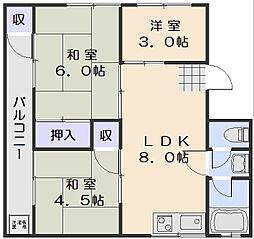 第1三加ビル[4階]の間取り