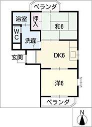 ムーンスター浅野[1階]の間取り