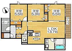 仮称堺市堺区シャーメゾン三条通[1階]の間取り