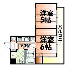 ロイヤルキャッスル[4階]の間取り