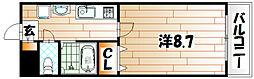 福岡県北九州市小倉北区吉野町の賃貸マンションの間取り