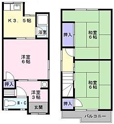 [一戸建] 大阪府堺市中区深井北町 の賃貸【/】の間取り