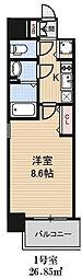 アドバンス大阪ベイパレス[201号室]の間取り