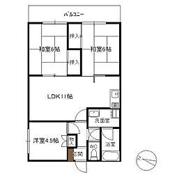 RKマンション[302号室]の間取り