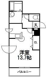 北海道札幌市中央区南十条西9丁目の賃貸マンションの間取り