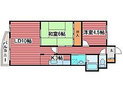北海道札幌市豊平区月寒西一条8丁目の賃貸マンションの間取り