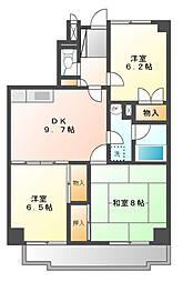 東京都小金井市緑町2丁目の賃貸マンションの間取り