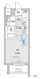 東急大井町線 等々力駅 徒歩10分の賃貸マンション 1階1Kの間取り